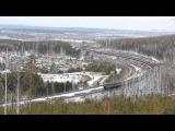 Взгляд на ВЛ11 с высоты, перегон Решёты - Ревда