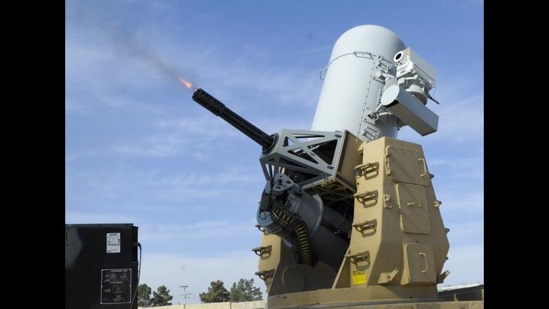 Centurion C-RAM Phalanx CIWS in Action Firing Counter Rocket, Artillery, and Mortar System [1080p]
