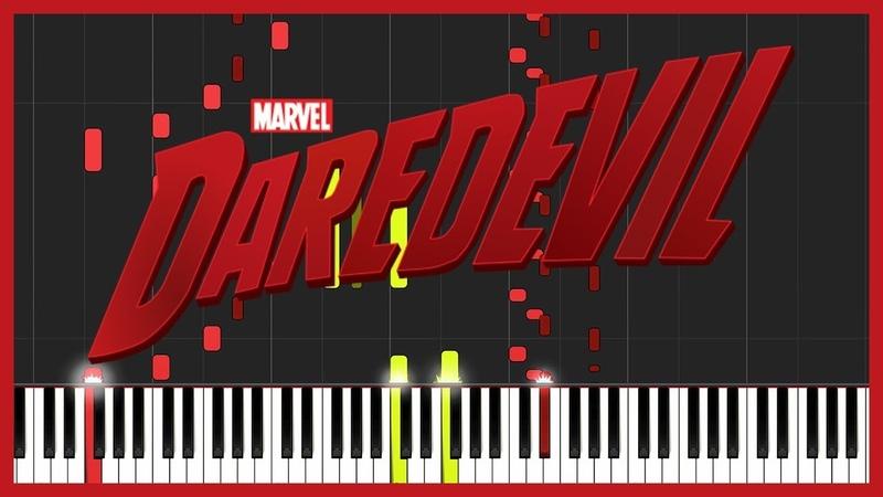 Daredevil Theme [Piano Duet] (Synthesia) Gotti Pros