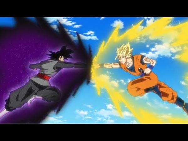 Блэк VS Гоку Временной портал вернул Блэка обратно в будущее Драконий жемчуг Супер