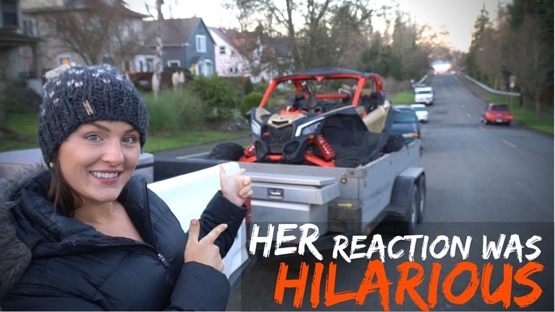 Wife Reacts to Crazy Fast Can Am Maverick X3 XRS!
