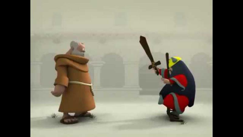 СУПЕР МОНАХ - короткометражный мульт. Черный юмор, стеб и треш!