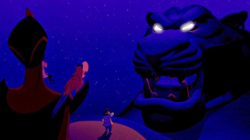 Джафар находит Пещеру Чудес Аладдин 1992