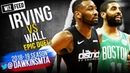 CLUTCH Kyrie Irving vs John Wall EPiC Duel 2018.12.12 - Wall With 34, Kyrie With 38!   Wiz FEED