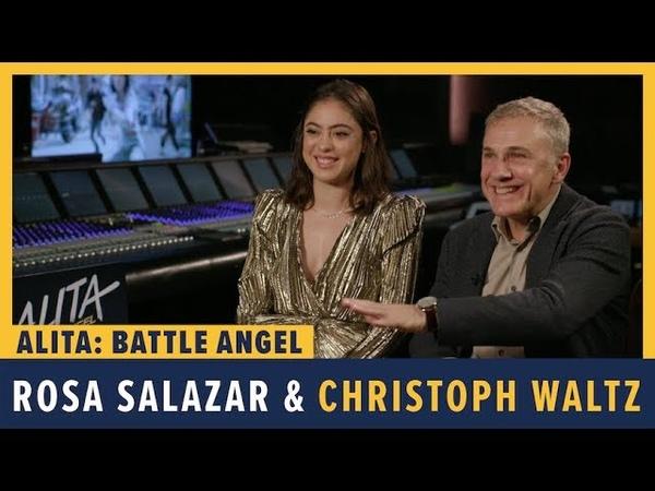 Rosa Salazar and Christoph Waltz Talk Alita Battle Angel
