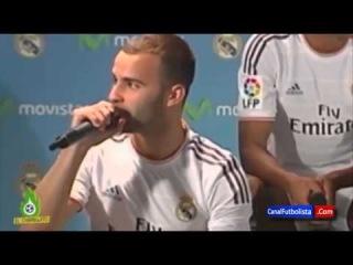Marcelo, Pepe y Xabi Alonso se burlan de Jesé durante una rueda de prensa