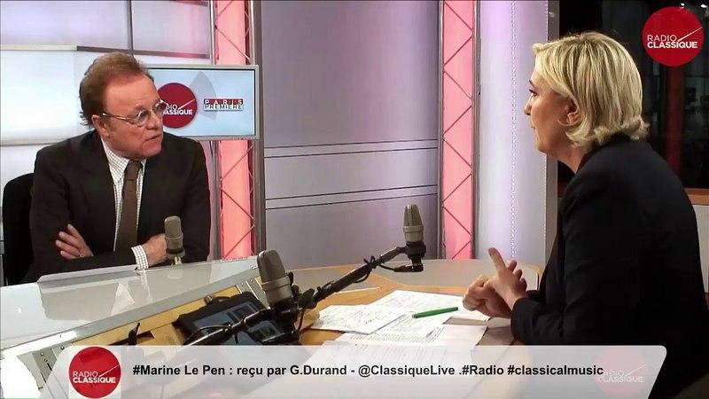 Marine Le Pen réagit à l'attentat au couteau à Paris ! - Radio Classique (14/05/18)