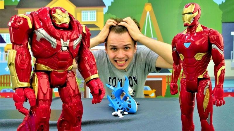 Мстители – Железный Человек и Халкбастер спасают аэропорт!