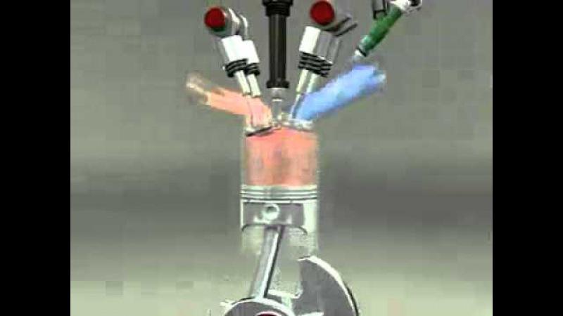 Двигатель хонда DOHC 4 cylinder engine Video часть2