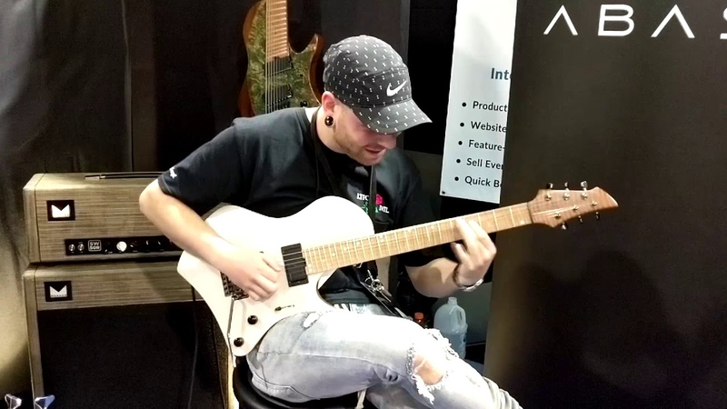 Aaron Marshall of Intervals Playing at the Abasi Guitars Booth Namm 2018