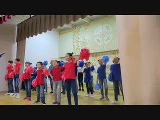 Танцевальная композиция детей ПСОШ №3 на открытии нового здания школы. Покровск, Якутия. 25.11.2018