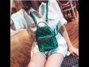 Luxy Moon Мини лакированный кожаный рюкзак для девочек подростков