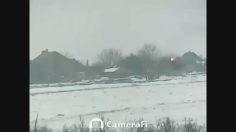 New Video frm Ukraine shows ATGM use by Ukrainian forces against Russian fighters