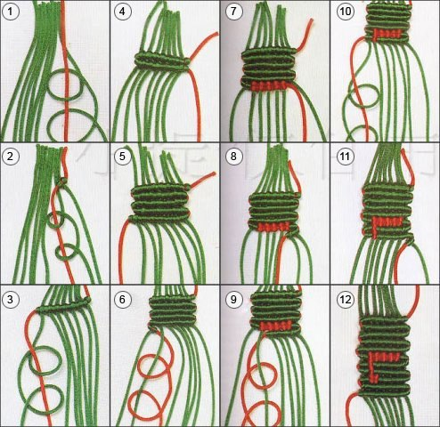 Схема плетения фенечки ИЗ