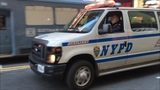 RARE CATCH OF A NYPD AUXILIARY POLICE VAN RESPONDING ON WEST 42ND STREET IN TIMES SQUARE, MANHATTAN.