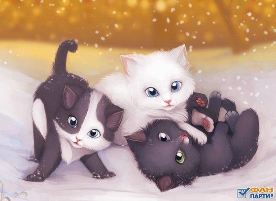 кошка нарисованная картинка для детей