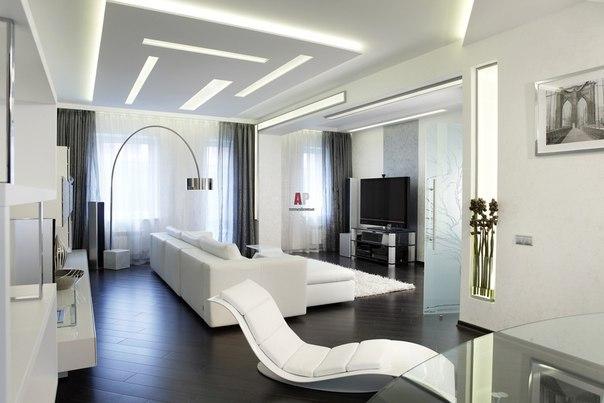 Светлая гостиная (1 фото)