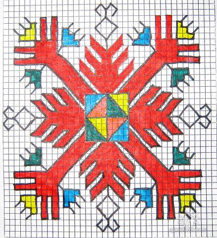 Схемы чувашской вышивке