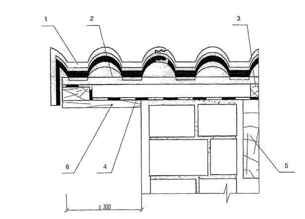 Детали кровли (крыши) из цементно-песчаной черепицы