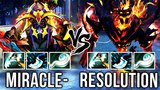 Different Heroes with Same Build! Miracle Sand King vs Resolution Shadow Fiend - Dota 2