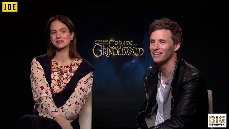 Eddie Redmayne and Katherine Waterston discuss filming Fantastic Beasts 3 in Rio