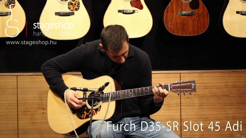 Furch D35-SR Slot Adirondack braced top and back: demo by Miklós Szula in Stageshop