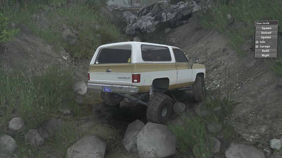 1975 Chevy K5 Blazer для 23.10.15 для Spintires - Скриншот 1