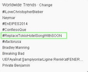 #ReplaceTokioHotelSongWithSoon é Trending Topic mundial no Twitter – 31/07/2013 OsG1BBlLp7o