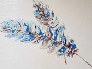 Feathers - Acrylic Pour & Swipe Method
