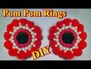 DIY - How to make Pom Pom Rings || DIY Navaratri jewelry - AH Tube