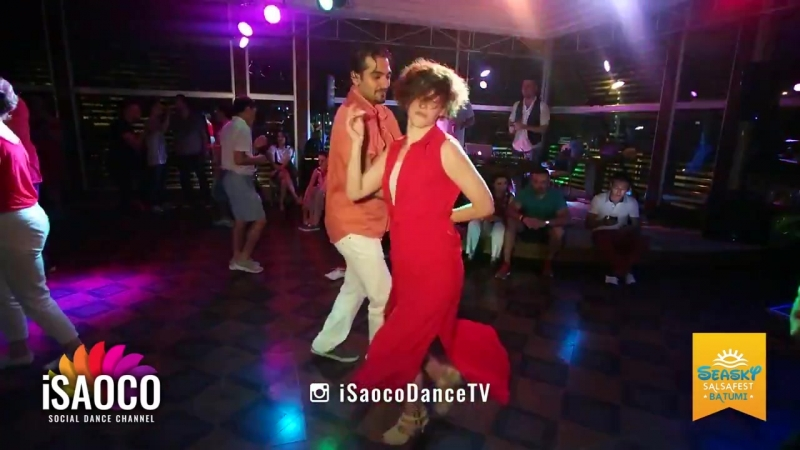Tomas M%U00FCn%U00FCr Tenekeci and Anna Melkova Salsa Dancing at Seasky Salsafest Batumi, (1)