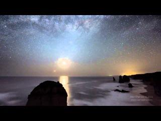 Движение звезд на Австралийском небе