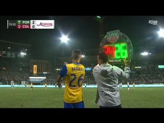 Special moment as @colebassett19 becomes the youngest player in club history to make his Rapids debut!