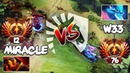 Rank 12 Liquid.Miracle- Ember Spirit vs Rank 76 Liquid.w33 Leshrac - EPIC LIQUID BATTLE - Dota 2