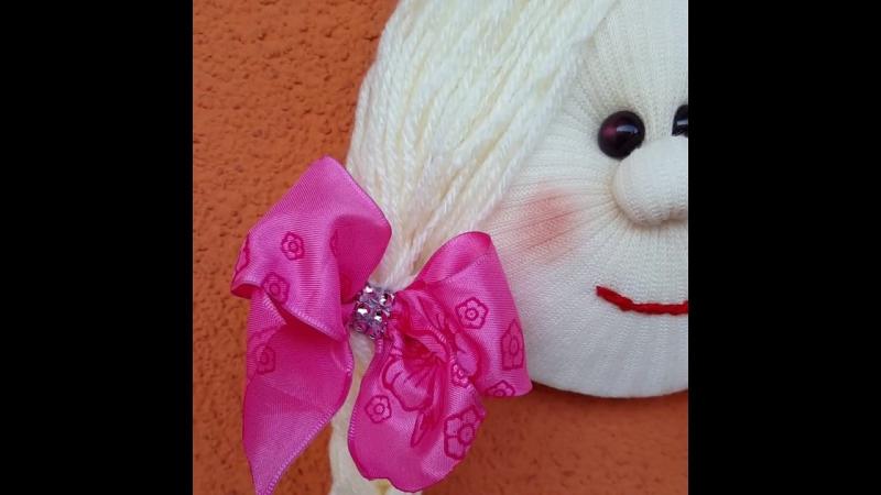 Кукла держатель для резинок