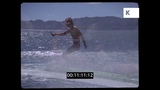 Relaxing on the Beach, Speed Boats, Wakeboarding, 1970s, 35mm