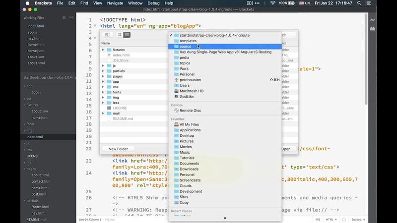 Xây dựng Single Page Web App với AngularJS Routing-Bài 14-Nguyễn Công Trình
