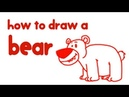 How to Draw a Bear - Learn Step By Step Drawing for Kids | Educational Videos by Mocomi