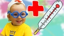 Doctor family song by Petya How kids pretend play doctor finger family and save toys