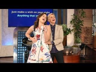 Katie Lowes' Special Gift (Karaoke) from Ellen .. the Ellen Show