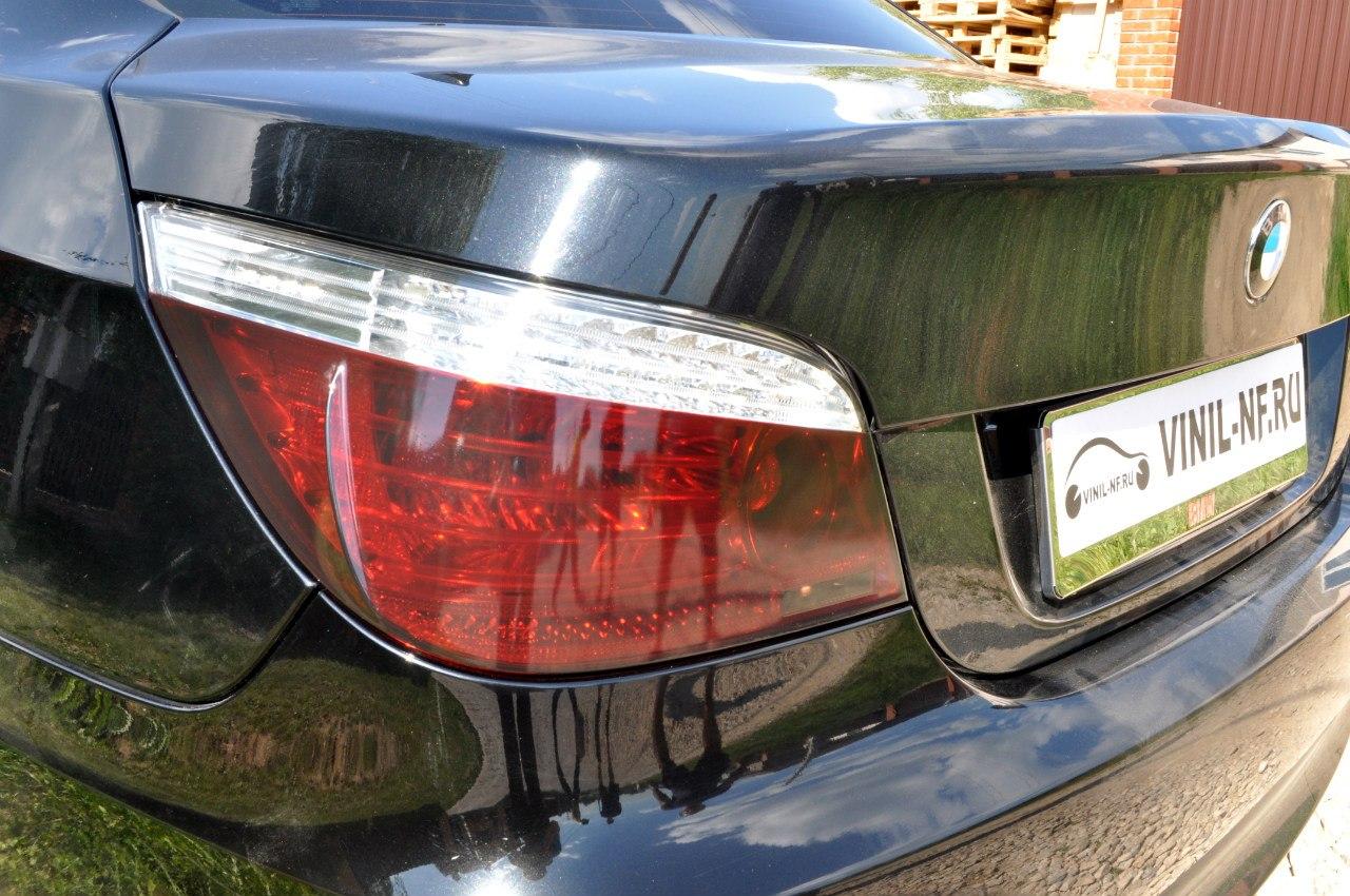 BMW 5 (e60) тонирование задних фар
