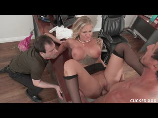 Alison avery sissy husband watches as his wife gets cock for lunch