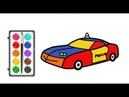 How To Draw A Police Car | Easy Drawing For Kids |