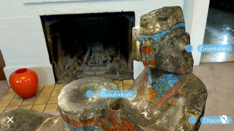 Chacmool in augmented reality Ancient artifacts at your fingertips