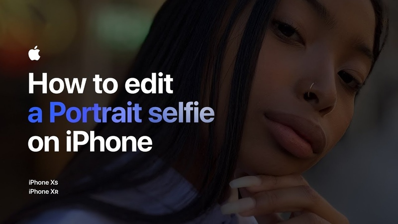 How to edit a Portrait selfie on iPhone Apple