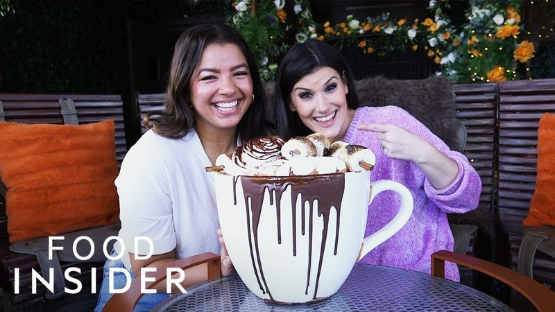 We Tried Giant Boozy Hot Cocoa That Costs $375