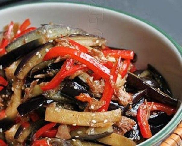 Острый салат из баклажанов