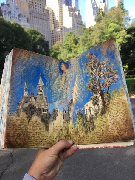 Скетчбук как отдельный вид искусства. Дина Бродская начала вести альбом для зарисовок в возрасте 18 лет, когда большая часть ее контента представляла собой набор разрозненных мыслей и каракулей.