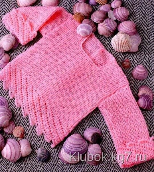 Розовый пуловер (2 фото) - картинка