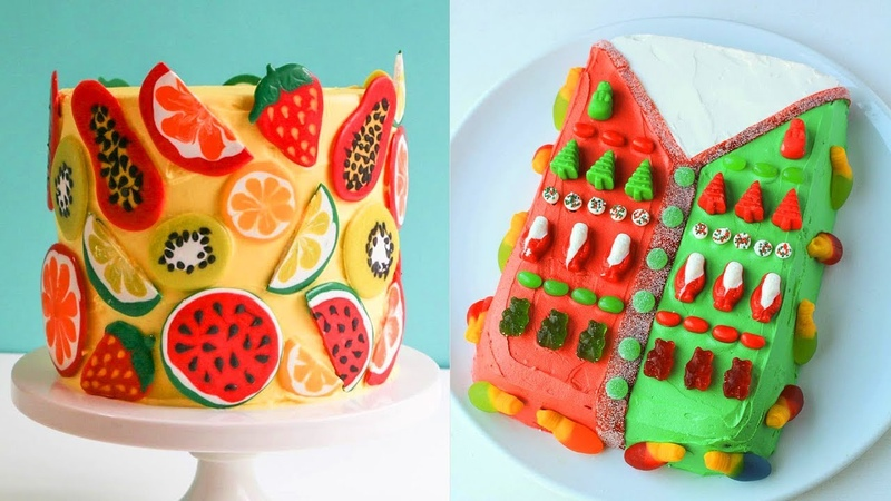 Awesome Fruit Cake Coloful Ideas - DIY Holiday Cake Decorating Tutorial (Oct) 16